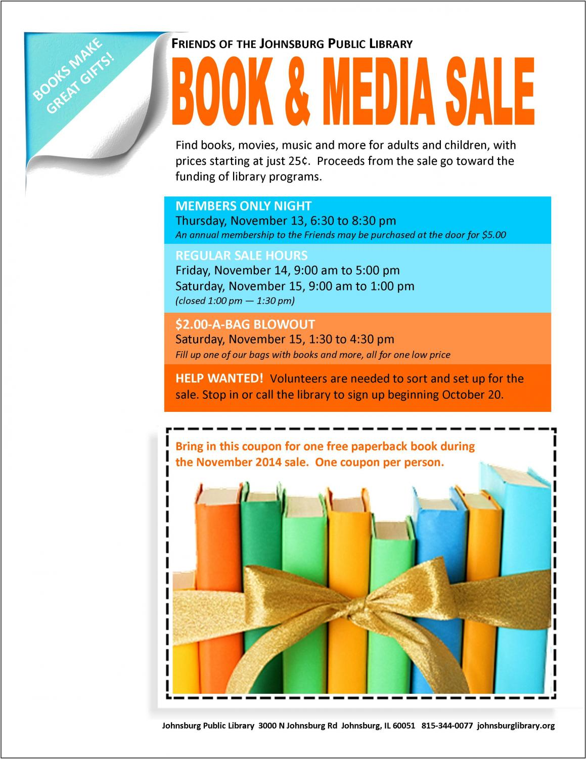 Coupon for library and educational services